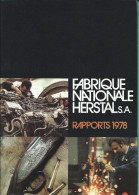 FABRIQUE NATIONALE HERSTAL  -  RAPPORT 1978 - Books, Magazines, Comics