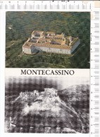 ABBAZIA   Di  MONTECASSINO   -    2  Vues  -  L Abbazia  Oggo E  Dopo Il  Bombardamento  Del  15.05.1944 - Altre Città