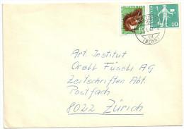Brief  Madiswil (Bern) - Zürich  (Mischfrankatur)         1967 - Schweiz