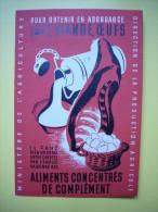 Belle Pub Illustrée René Letourneur Ministère De L'agriculture Aliments Concentrés De Complément - Publicités
