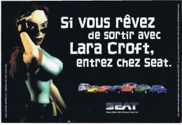 CPM Si Vous Rever De Sortir Avec LARA CROFT Entrer Cher SEAT - Passenger Cars
