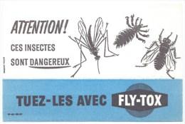 """Buvard  Insectes Dangereux Tuez Les Avec Fly-tox  """"mouche Mostiques, Tiques"""" - Wash & Clean"""