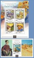 nig15108ab Niger 2015 125th memorial anniversary of Vincent van Gogh 2 s/s