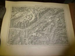 1876  Grande Carte Ancienne (Brieg Airolo ) EIDGENÖSSISHES MILITAIR ARCHIV (archives Fédérale) Par G. H. Dufour - Cartes