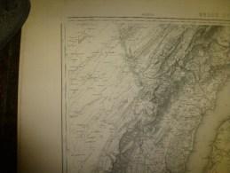 1887  Grande Carte Ancienne (Genève , Lausann  ) EIDGENÖSSISHES MILITAIR ARCHIV (archives Fédérale) Par G. H. Dufour - Cartes