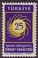 1959 TURKEY 25TH ANNIVERSARY OF ANKARA UNIVERSITY FACULTY OF AGRICULTURE MNH ** - Ongebruikt