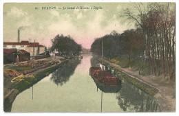 Cpa: 42 ROANNE Le Canal De Roanne à DIGOIN  (Péniches, Usine) N° 60 - Roanne