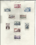 FRANCE -  LOT DE 10 TIMBRES SITES ET MONUMENTS OBLITERES - 1955/1956 - COTE: 4.65€ - Collezioni