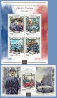 nig15110ab Niger 2015 80th memorial anniversary of Andr�-Gustave Citro�n 2 s/s Car tour Eiffel