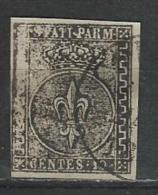 Italy-Italia. Scott # 2 Used. Italian State Parma. Cat Value $140.00. 1852 - Parma