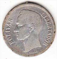 VENEZUELA 1930. 2 BOLIVARES. SIMON BOLIVAR.BC.PLATA 835/1000.10 GRAMOS CN4162 - Venezuela