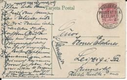 1921 - ESPAGNE - CARTE De LAS PALMAS (CANARIES) Par PAQUEBOT Avec CACHET ANGLAIS De LIVERPOOL Sur TIMBRE ESPAGNOL - 1889-1931 Kingdom: Alphonse XIII