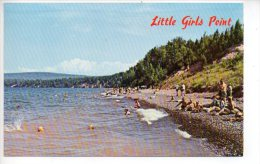REF 216 CPSM Michigan Little Girl's Point Ironwood - Etats-Unis