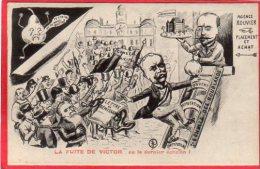 CPA  LA FUITE DE VICTOR ou le dernier �chelon Illustrateur JEAN ROBERT d�dicac� au dos tox