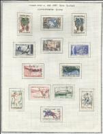 FRANCE -  LOT DE 13 TIMBRES COMMEMORATIFS DIVERS OBLITERES - 1957/1958 - COTE: 12.40€