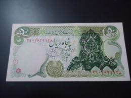 1974 IRAN ( OVER PRINT ) RARE 50 RIALS * SHAH PAHLAVI * ( P 111b )  - UNC - - Iran