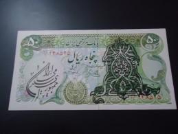 1974 IRAN ( OVER PRINT ) RARE 50 RIALS * SHAH PAHLAVI * ( P 123b )  - UNC - - Iran