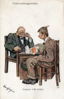 "Cpa Autrichienne ""Leugnen Hift Nichts"",  (B.K.W.I  900-1)  Dessin De AK ? (44.14) - Humour"