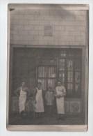 ARDENNES.TRES RARE CARTE PHOTO DE LA BOUCHERIE DE SEDAN.RUE DE L HORLOGE. DATE 1875.FAMILLE COLSON - Sedan