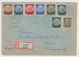 1939 Multifranked  Registered Cover Germany Post In Poland. Deutsche Post OSTEN. Tarnow. Letter Inside. (G18c003) - 1939-44: 2ème Guerre Mondiale