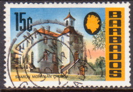 BARBADOS 1972 SG #461 15c VF Used Wmk Upright Church - Barbades (1966-...)