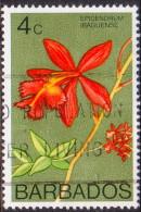 BARBADOS 1972 SG #488 14c VF Used Wmk Sideways Orchids - Barbados (1966-...)