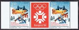 Bosnia Serbia 2009 25th Anniversary Winter Olympic Games Sarajevo, Mascote Wolf, Middle Row, MNH - Bosnien-Herzegowina