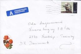 Norway A Prioritaire Par Avion Label 2003 Cover Brief To KASTRUP Denmark 13.00 Kr. Sculpture Of Per Palle Storm - Norwegen