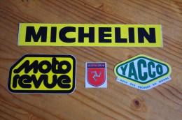 AUTOCOLLANT STICKER AUTO MOTO RACING YACCO MICHELIN MOTO REVUE - Altri