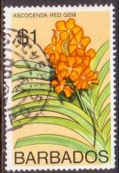 BARBADOS 1976 SG #551 $1 VF Used Orchids - Barbados (1966-...)