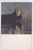 CARD VENEZIA XII ESPOSIZIONE INTERNAZIONALE D'ARTE 1920:PRUE DENTATE COG PROWS DI GUIDO MARUSSIG     FP-N-2 -0882-22953 - Venezia
