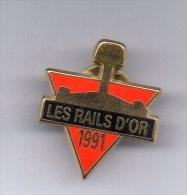 RARE Pin's TBQ/EGF Train SNCF  - LES RAILS D'OR Signé PICHARD - TGV