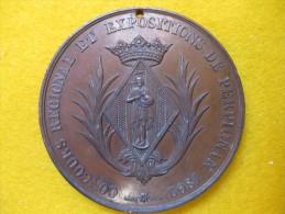 Médaille En Cuivre. Concours Régional Et Expositions De PERPIGNAN 1862. NAPOLEON III - France