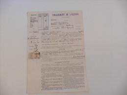 Engagement De Location  ,Timbre  De Dimension  6 F En 1942 - France