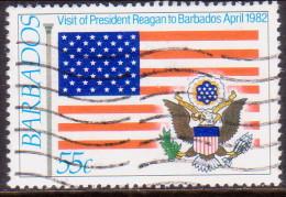 BARBADOS 1982 SG #700 55c VF Used President Reagan´s Visit - Barbados (1966-...)