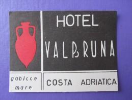 HOTEL PENSION HOSTAL MOTEL VALBRUNA COSTA ADRIATICA PESARO ITALY LUGGAGE LABEL ETIQUETTE AUFKLEBER DECAL STICKER Madrid - Hotel Labels