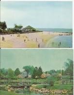 OLD GREENWICH Connecticut Island Beach Binney Park 2 Cards - Etats-Unis