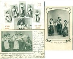 3 AK DAMEN-ORCHESTER Tiroler Jodler-Schuhplatter-Gesellschaft, Emmy Og Svea Struntze C.1905-07 - Österreich