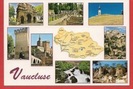 84 - Carte Contour Géographique Du Département Du VAUCLUSE - Cartes Géographiques
