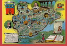 82 - Carte Contour Géographique Du Département Du TARN ET GARONNE - Landkaarten