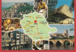 81 - Carte Contour Géographique Du Département Du TARN - Landkaarten