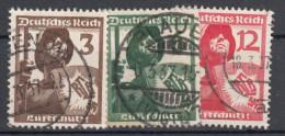 Deutsches Reich -  Mi. 643/645 (o) - Usados