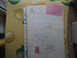 1934 Certificato Federazione Fasci Combattimento Napoletani Con Marca Fiscale Concessione Governativa - Old Paper