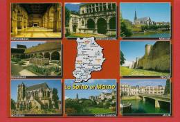 77 - Carte Contour Géographique Du Département De SEINE ET MARNE - Maps