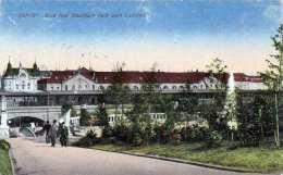 ERFURT Blick Vom Stadtpark Nach Dem Bahnhof, Gel.1927, Klarer Bahnpoststempel Berlin-Cassel - Deutschland