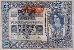 1000 KRONEN Banknote Österreich-Ungarn 1902, Gute Erhaltung - Autriche