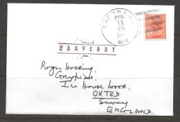 198? Paquebot Cover, British Stamp Used In Tacoma Washington (Feb 11) - United States
