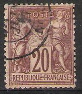 France - Sages Type 1 N° Y&T 67, Oblitéré - 1876-1898 Sage (Type II)