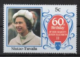 Tuvalu Niutao 1986 - Regina Elisabetta II Queen Elizabeth II MNH ** - Tuvalu