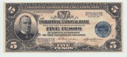 Philippines 5 Pesos 1921 UNC NEUF Pick 53 - Philippines